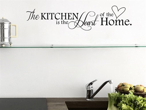 Kitchen is the heart of home samolepky na zeď, Kitchen is the heart of home nálepky na zeď, Kitchen is the heart of home dekorace na zeď, Kitchen is the heart of home samolepící nálepky na zeď