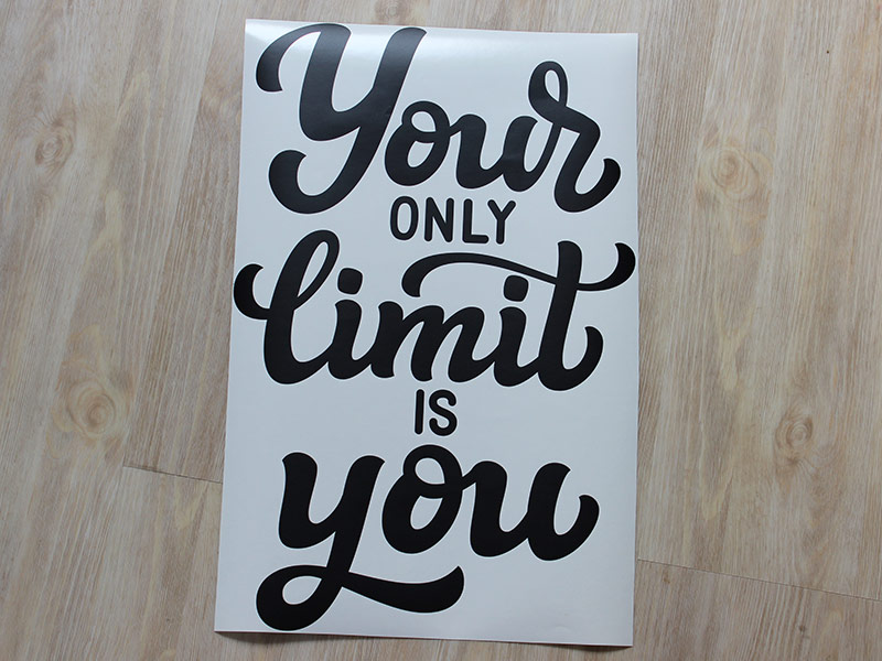 Your limit is you nápis samolepky na zeď, Your limit is you nápis nálepky na zeď, Your limit is you nápis dekorace na zeď, Your limit is you nápis samolepící nálepky na zeď